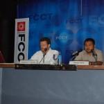 ERIs Matthew Smint and Naing Hto discuss the reports (Simon Roughneen)