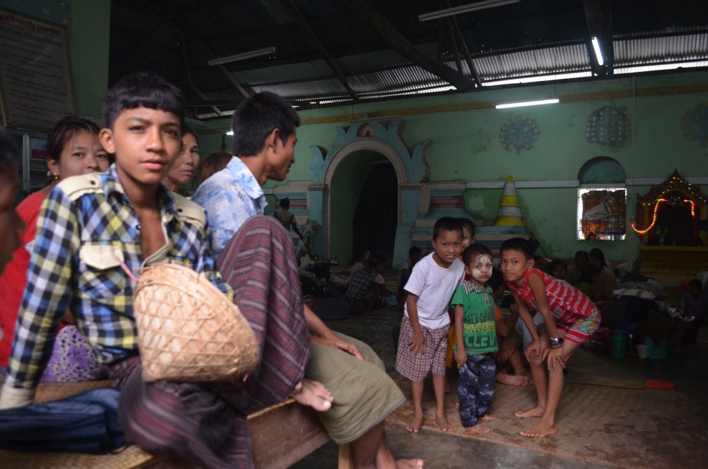 Displaced Rakhine sheltering at Sittwe monastery, June 2102 (Photo: Simon Roughneen)