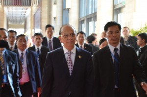Burma President Thein Sein pictured at ASEM summit in Vientiane in 2012  (Photo: Simon Roughneen)