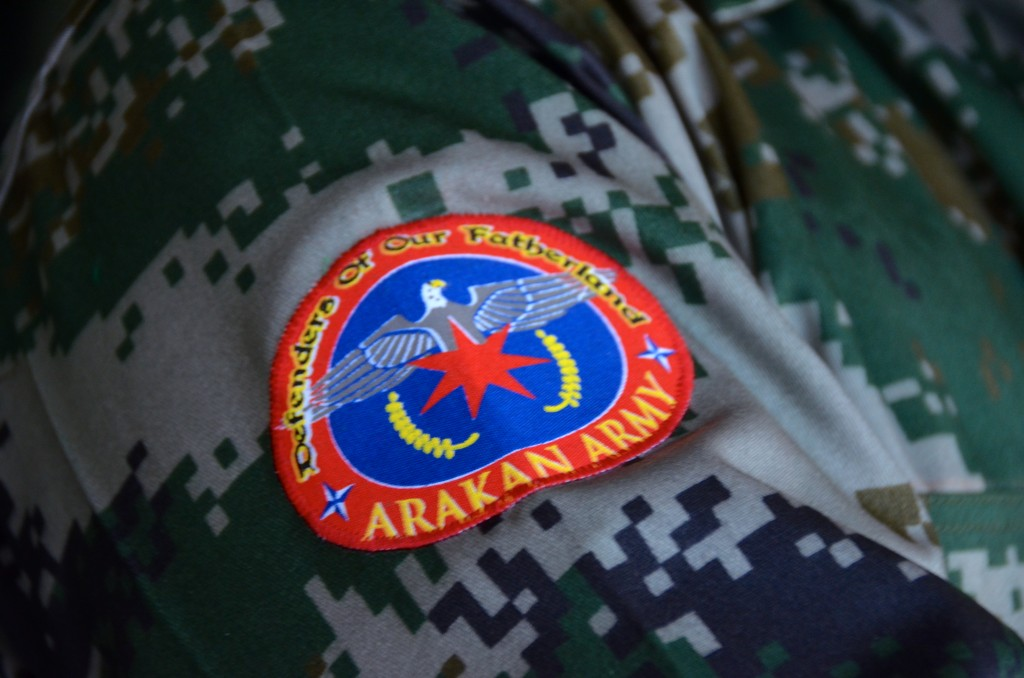 Arakan Army logo (Photo: Simon Roughneen)