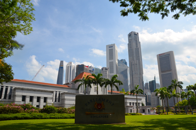 View of Singapore's parliament house, where the Workers' Party has just upped its representation to 7 (Photo: Simon Roughneen)