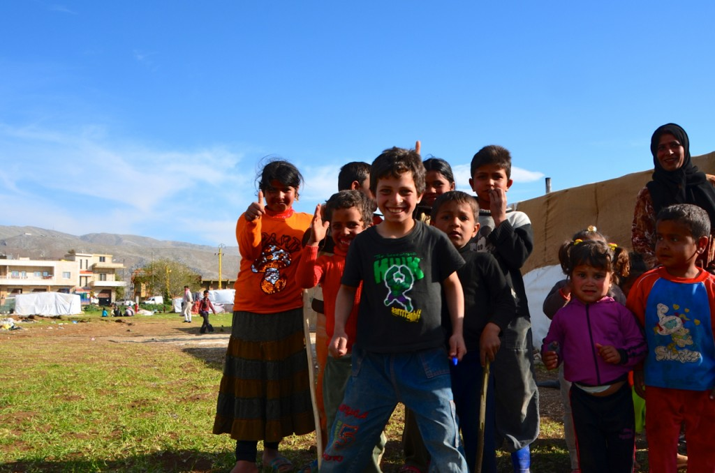 Refugee children at the Dalhamieh camp in Lebanon's Bekaa Valley (Photo: Simon Roughneen)