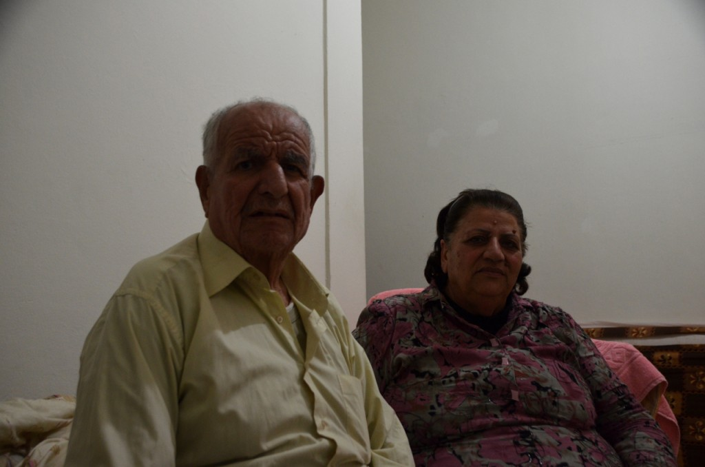 Matti and Maysoun Tourrani pictured at the apartment they are renting in Beirut (Photo: Simon Roughneen)