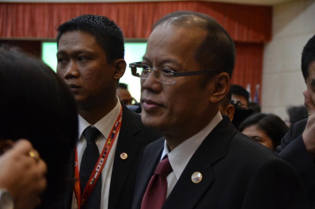 Philippine President Benigno Aquino at the East Asia Summit (Photo: Simon Roughneen)