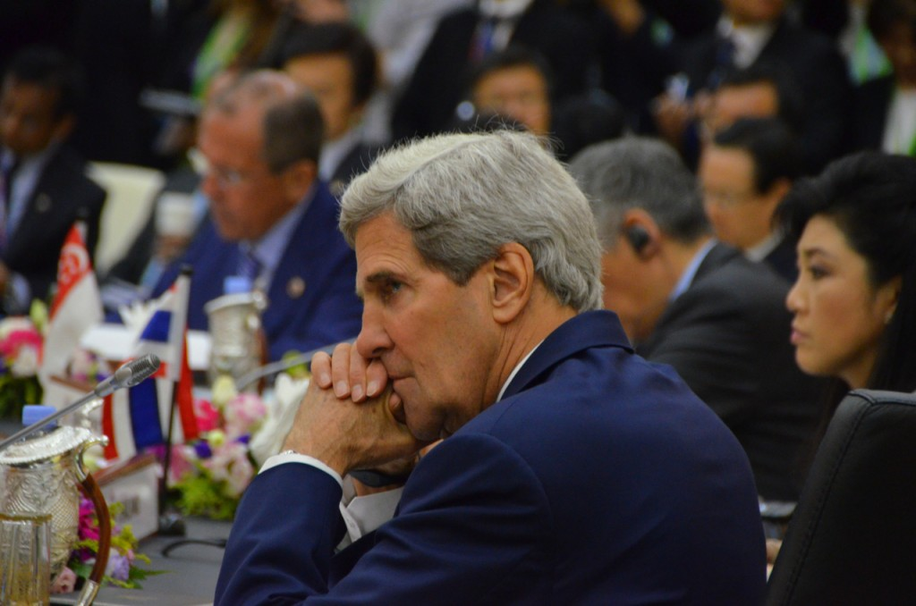 U.S. Secretary of State John Kerry at the East Asia Summit in Brunei on Oct. 10 2013 (Photo: Simon Roughneen)