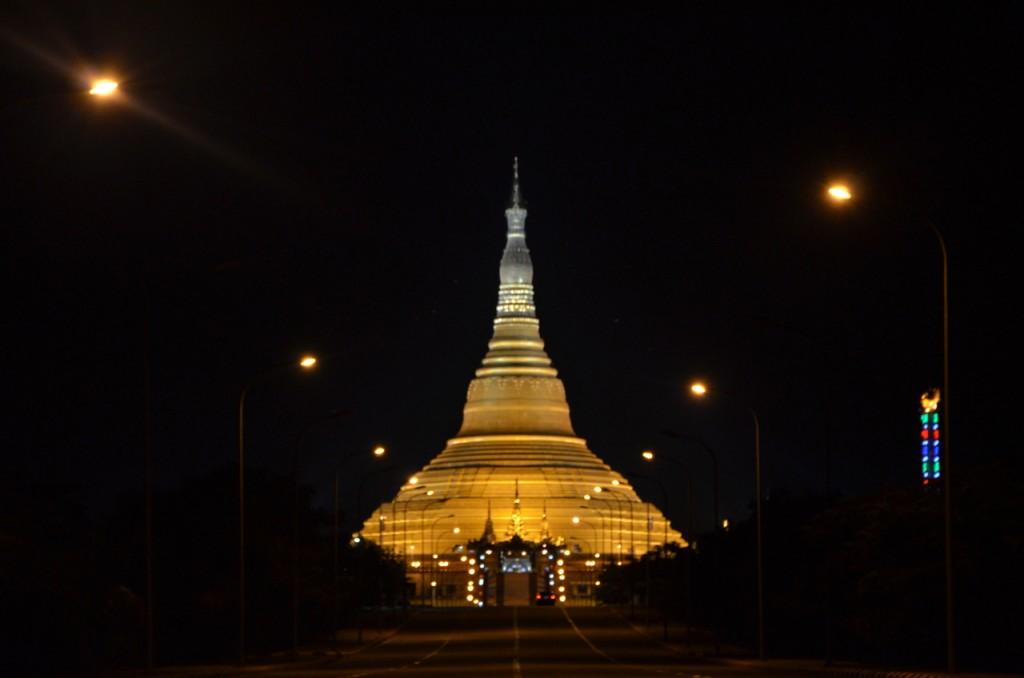 Uppatasanti Pagoda in Naypyitaw, a replica of the famous Shwedagon in Yangon (Photo: Simon Roughneen)