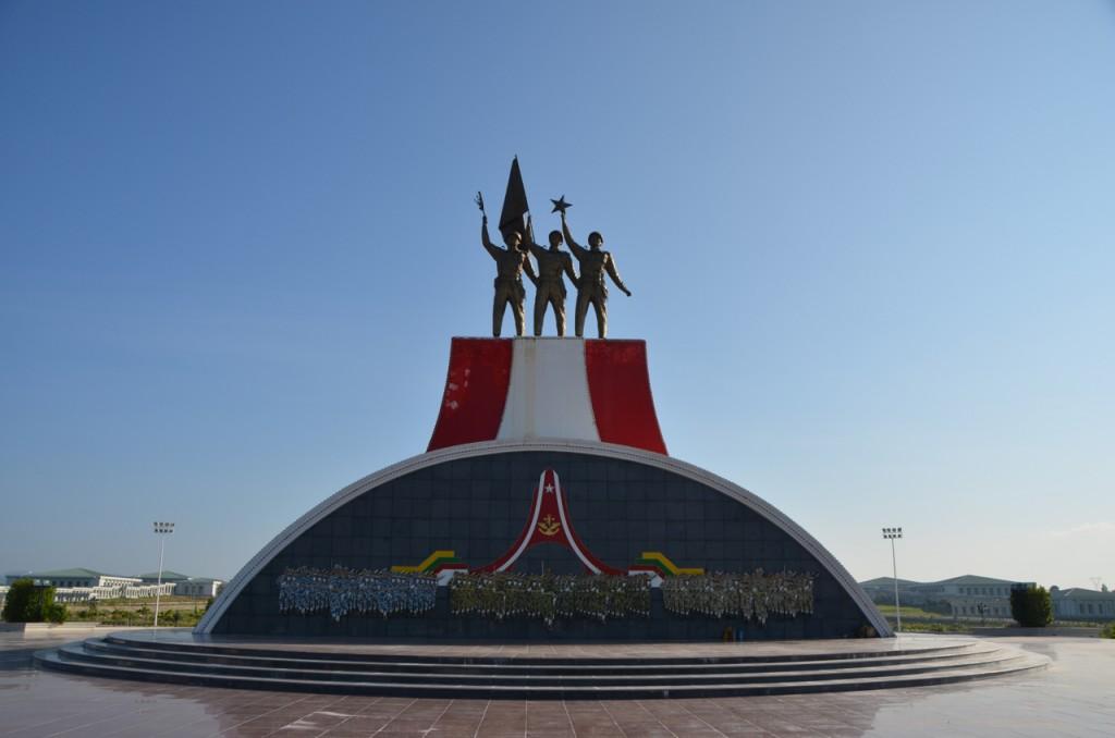 Monument at edge of Naypyidaw army museum (Photo: Simon Roughneen)