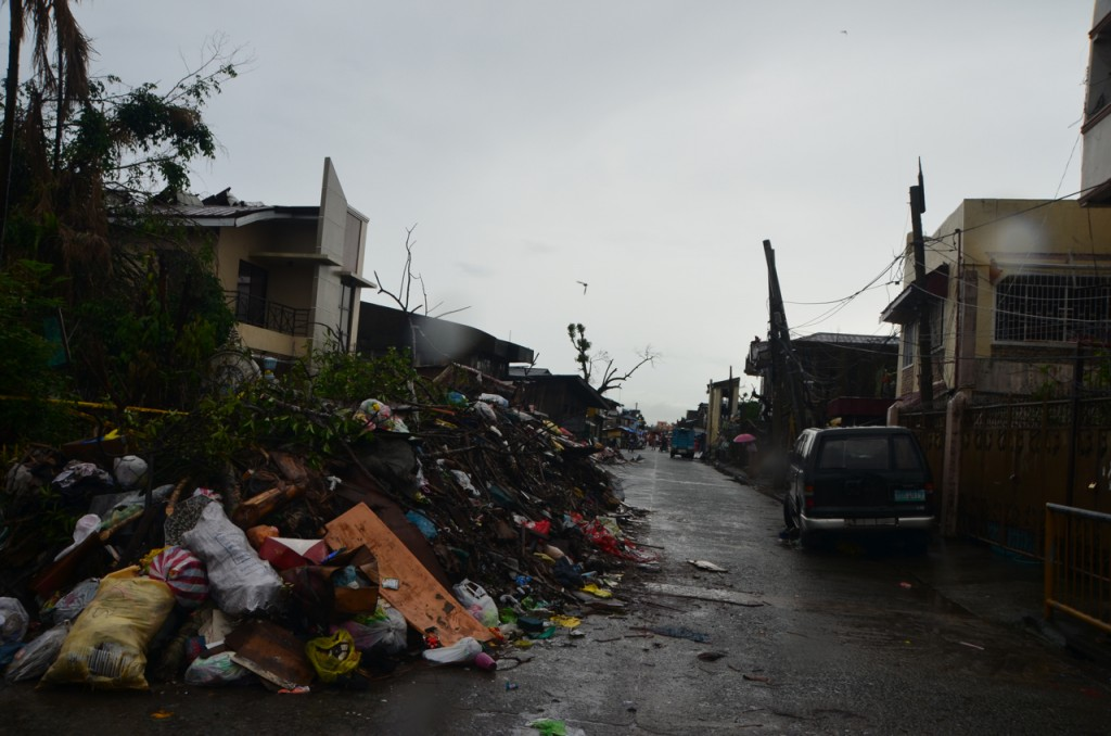 Along the Tacloban waterfront on Christmas Day (Photo: Simon Roughneen)