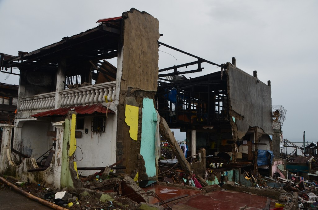 Battered house on Tacloban waterfront (Photo: Simon Roughneen)