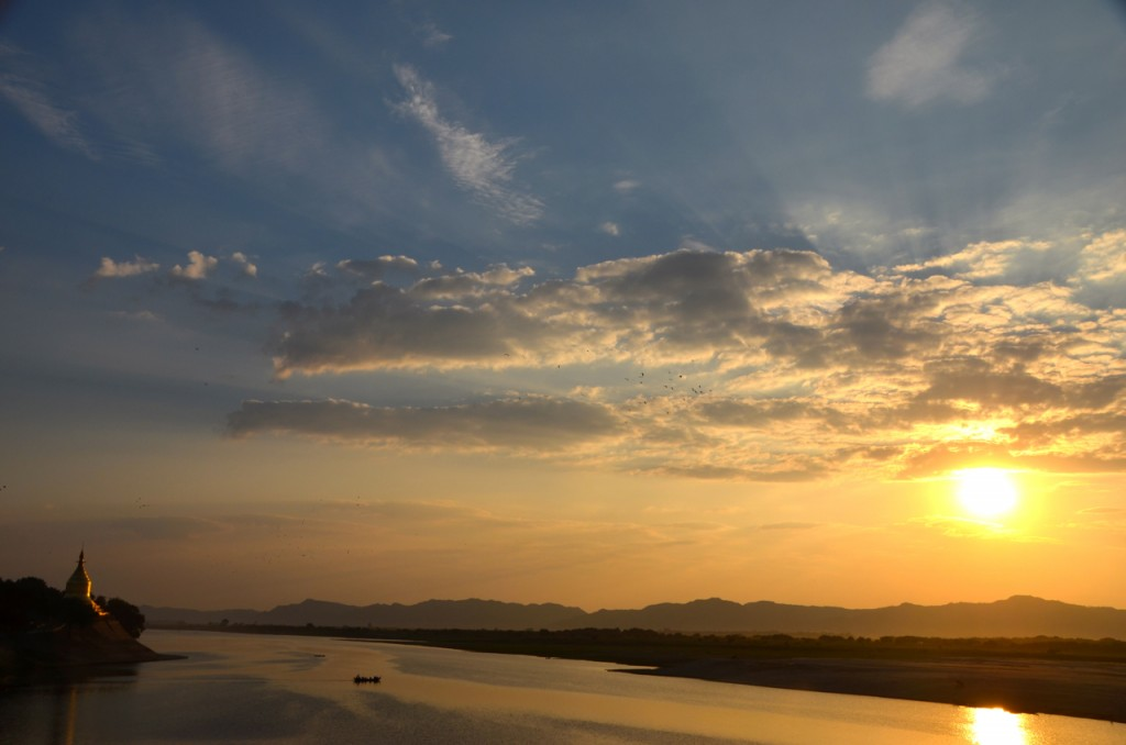 Sunset over Bagan and The Irrawaddy River (Photo: Simon Roughneen)