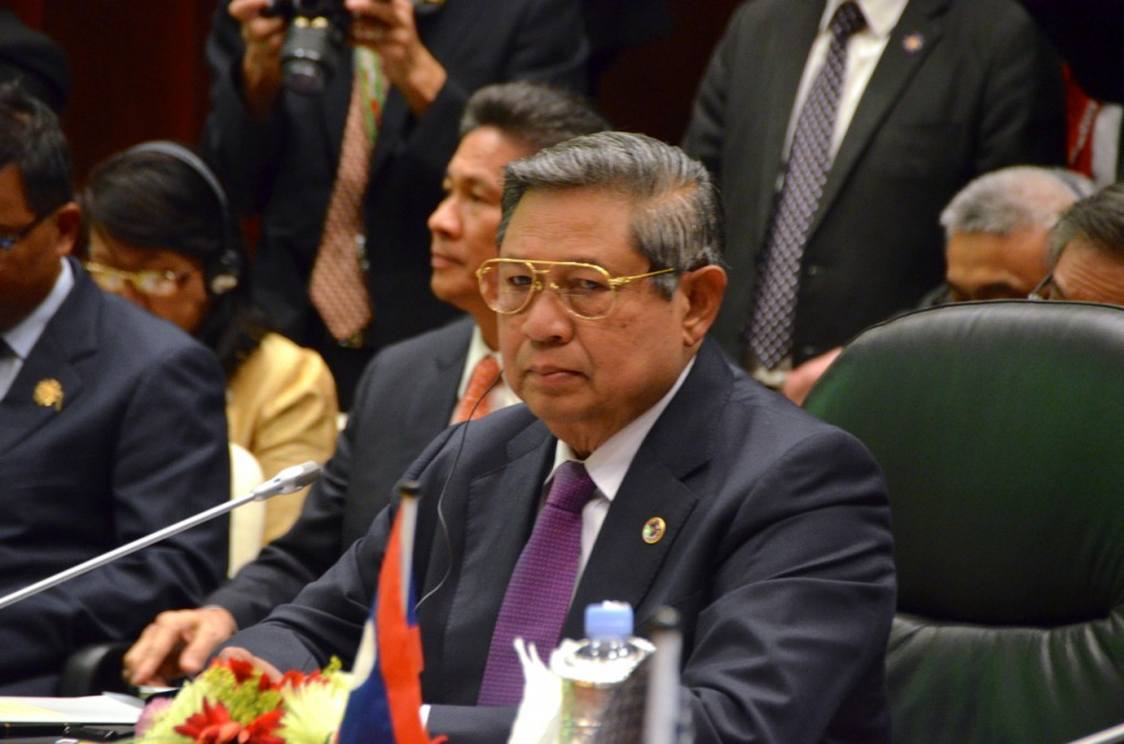 President Susilo Bambang Yudhoyono in Brunei in late 2013 (Photo: Simon Roughneen)