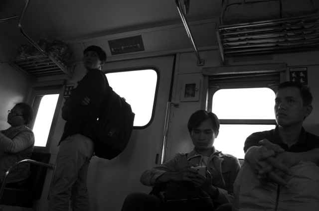 Morning train from Solo to Yogyakarta (Photo: Simon Roughneen)
