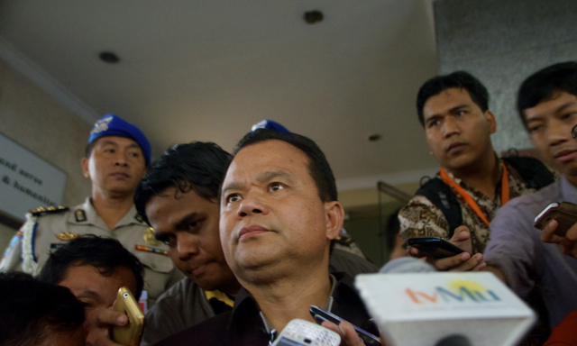 Indonesian police spokesman Ronny Franky Sompie  speaks to media on Jan. 23 2014 (Photo: Simon Roughneen)