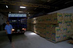 Inside Be'e Mor's factory in Dili (Photo: Simon Roughneen)