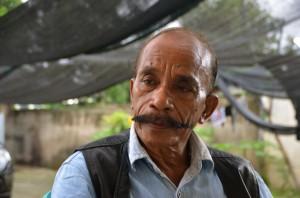 Cornelio Gama, aka 'L7. in conversation in Dili (Photo: Simon Roughneen)