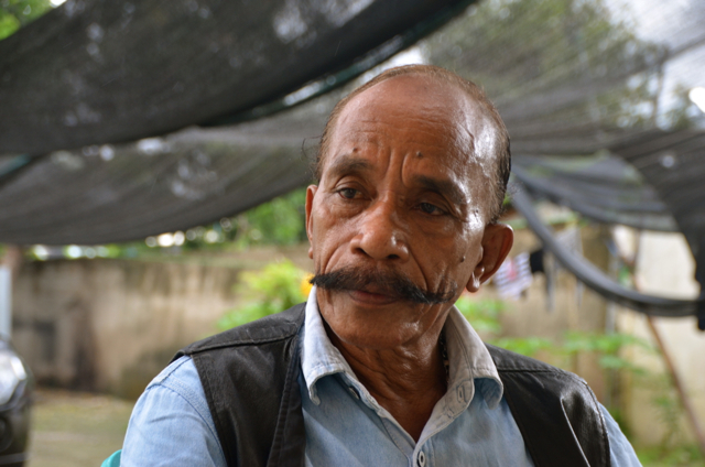Cornelio Gama, aka 'L7. in conversation in Dili (Photo: Simon Roughneen)