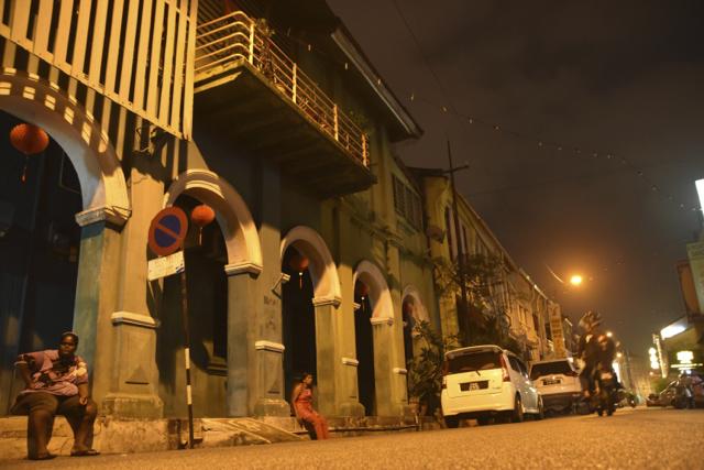 George Town at night (Photo: Simon Roughneen)