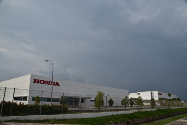 Honda plant at Penang's Batu Kawan industrial park (Photo: Simon Roughneen)