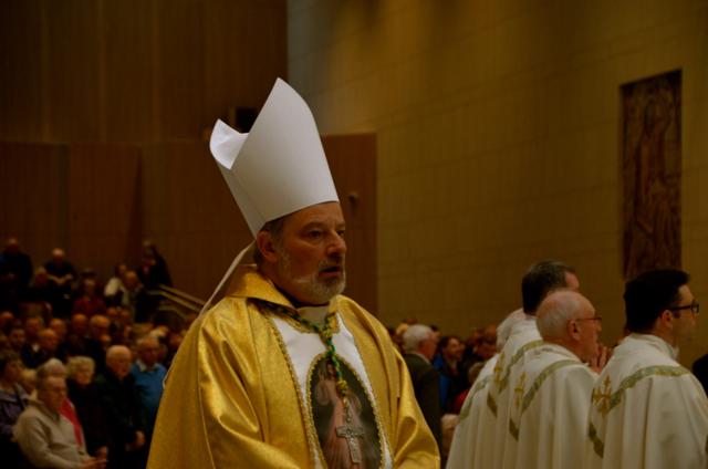 Archbishop Kevin Doran at Knock Basilica on April 12 (Photo: Simon Roughneen)